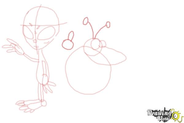 How to Draw Aliens - Step 11