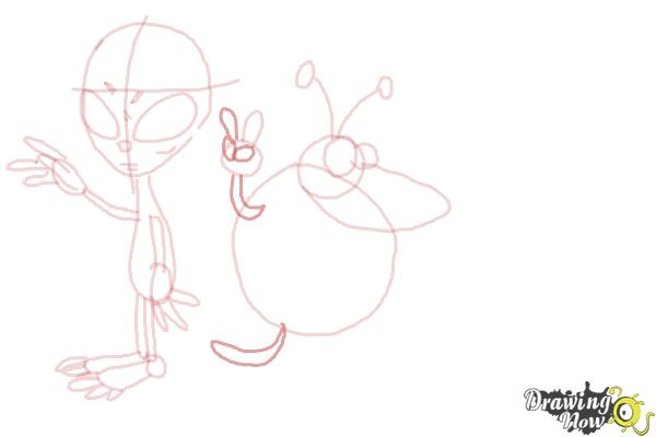 How to Draw Aliens - Step 12
