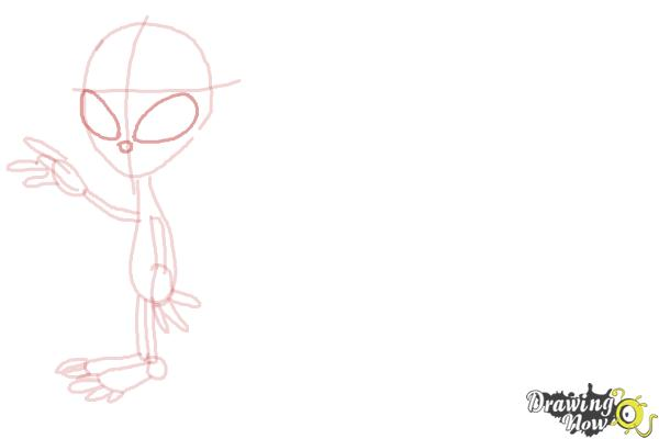 How to Draw Aliens - Step 7