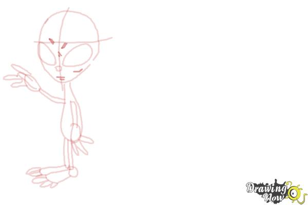 How to Draw Aliens - Step 8