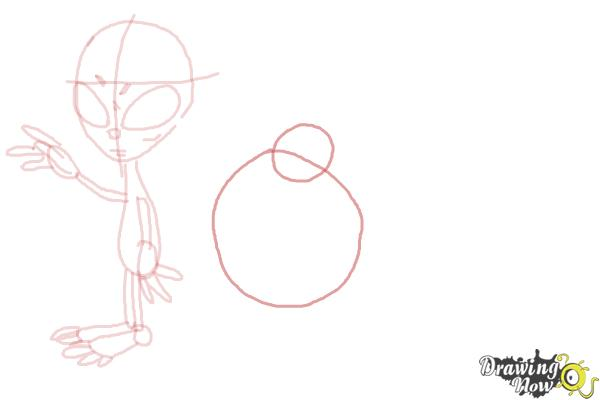 How to Draw Aliens - Step 9