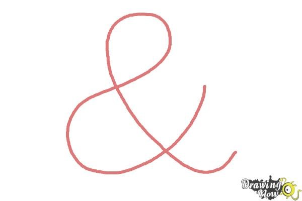How to Draw an Ampersand - Step 1