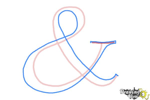How to Draw an Ampersand - Step 2