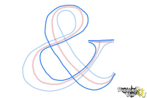 How to Draw an Ampersand - Step 3