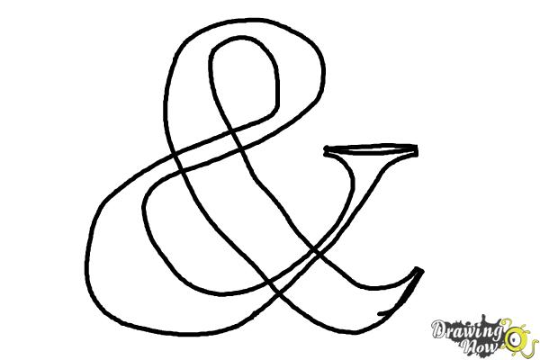How to Draw an Ampersand - Step 4