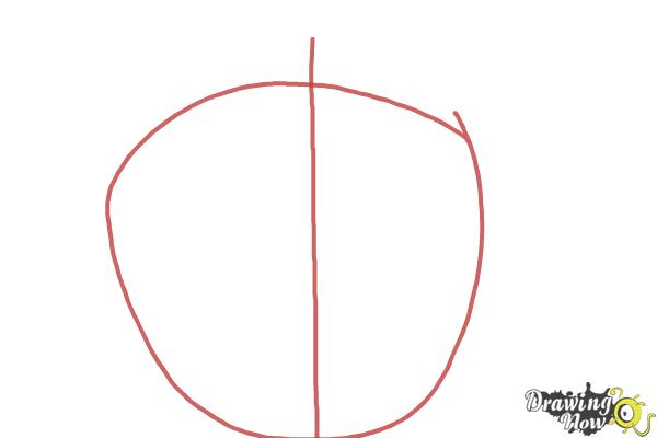 How to Draw Apple Logo - Step 1