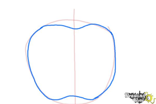 How to Draw Apple Logo - Step 2