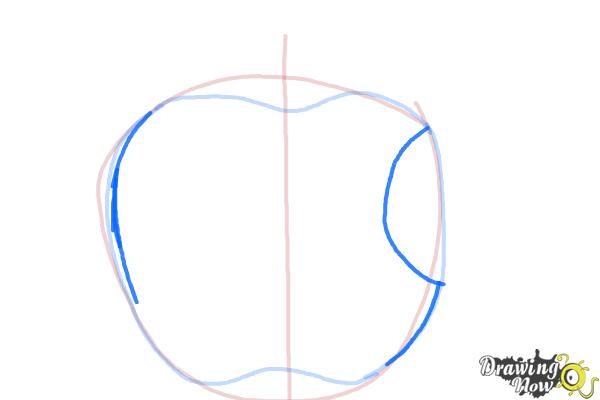 How to Draw Apple Logo - Step 3