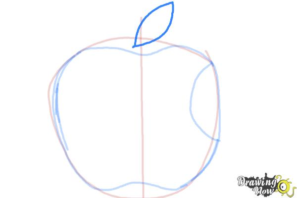 How to Draw Apple Logo - Step 4