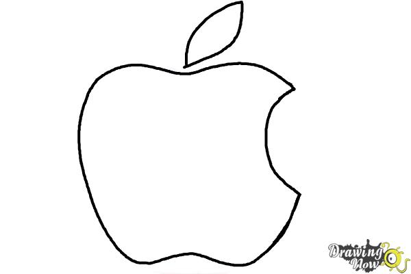 How to Draw Apple Logo - Step 5
