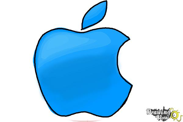 How to Draw Apple Logo - Step 6