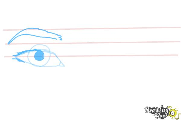 How to Draw Asian Eyes - Step 3