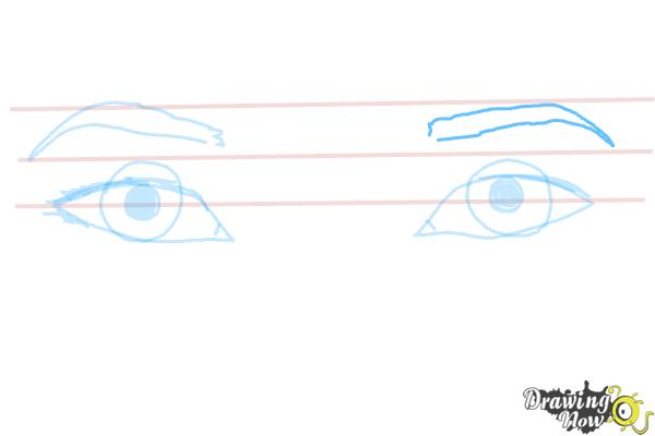 How to Draw Asian Eyes - Step 6