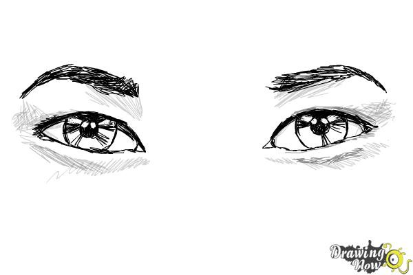 How to Draw Asian Eyes - Step 7