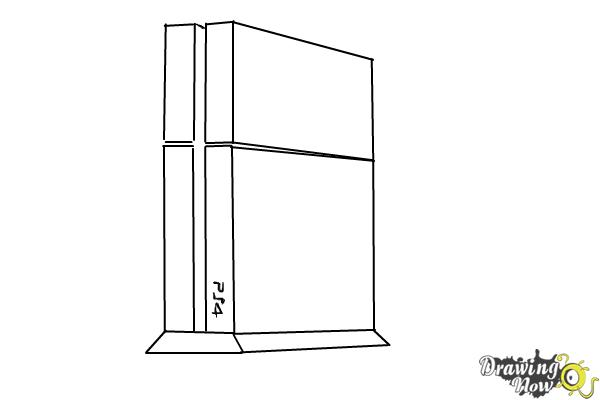 How to Draw Playstation 4, Ps4 - Step 5