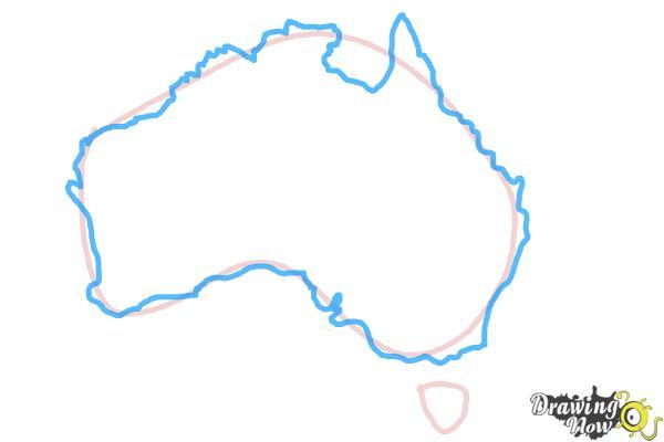 How to Draw Australia - Step 3