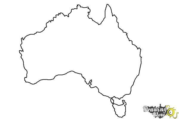 How to Draw Australia - Step 5
