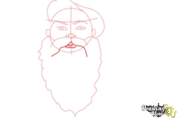 How to Draw Facial Hair - Step 7