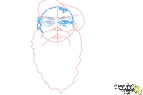 How to Draw Facial Hair - Step 9