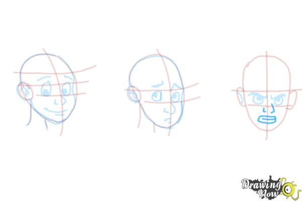 How to Draw Facial Expressions - Step 15