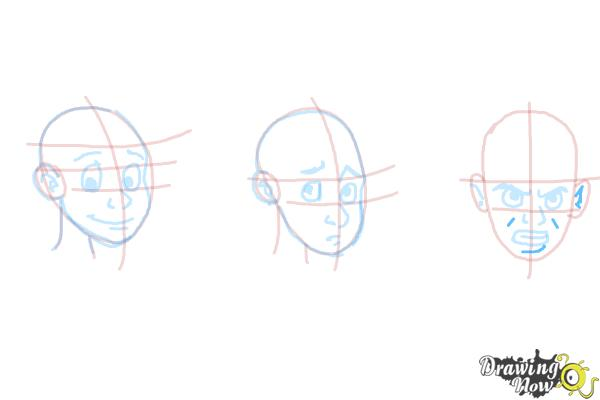 How to Draw Facial Expressions - Step 16