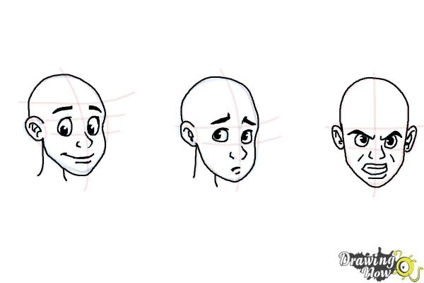 How To Draw Facial Expressions Drawingnow
