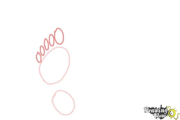 How to Draw Footprints - Step 2