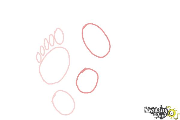 How to Draw Footprints - Step 3