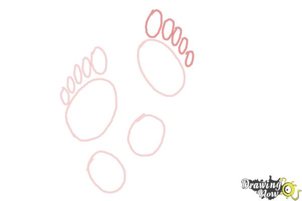 How to Draw Footprints - Step 4