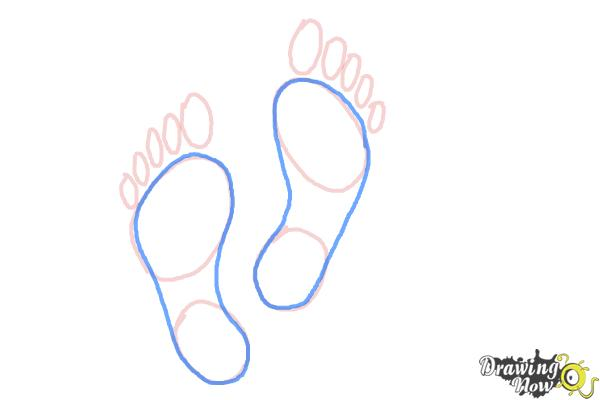 How to Draw Footprints - Step 5