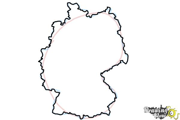 How to Draw Germany - Step 3