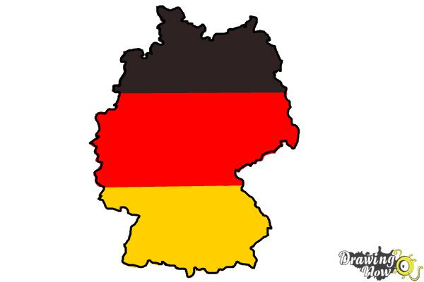How to Draw Germany - Step 4