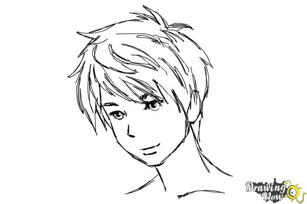 How to Draw Guy Hair - Step 10