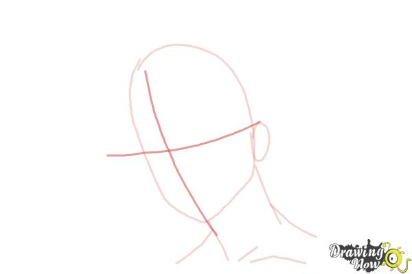 How to Draw Guy Hair - Step 4