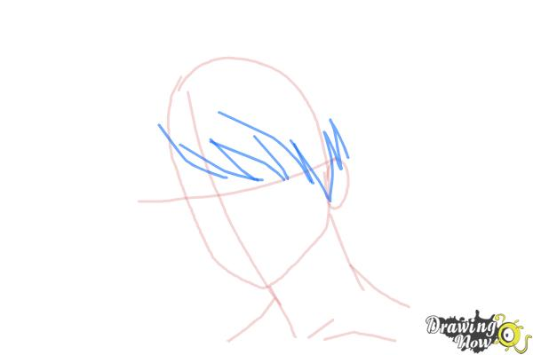 How to Draw Guy Hair - Step 5