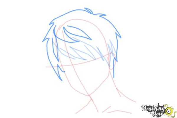How to Draw Guy Hair - Step 6