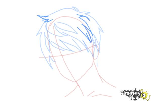 How to Draw Guy Hair - Step 7