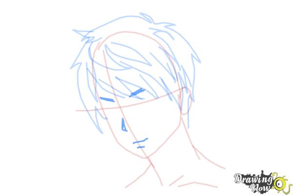 How to Draw Guy Hair - Step 8