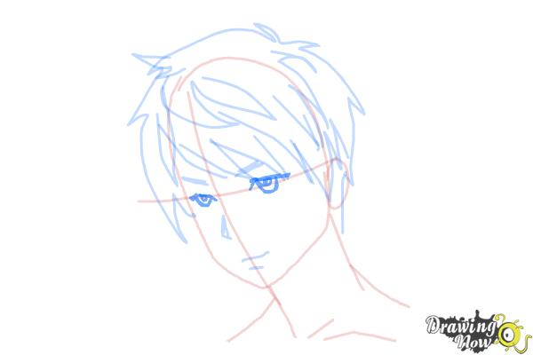 How to Draw Guy Hair - Step 9