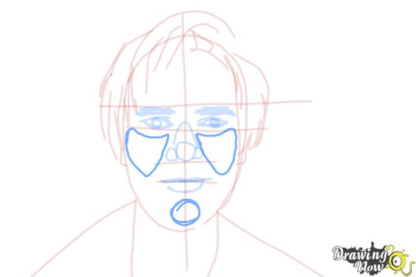 How to Draw Pewdiepie - Step 11