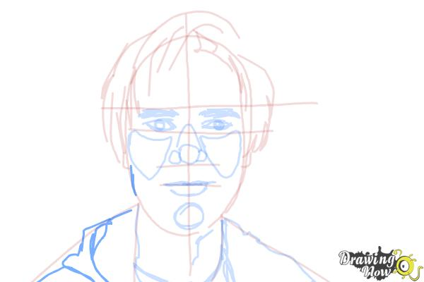 How to Draw Pewdiepie - Step 13