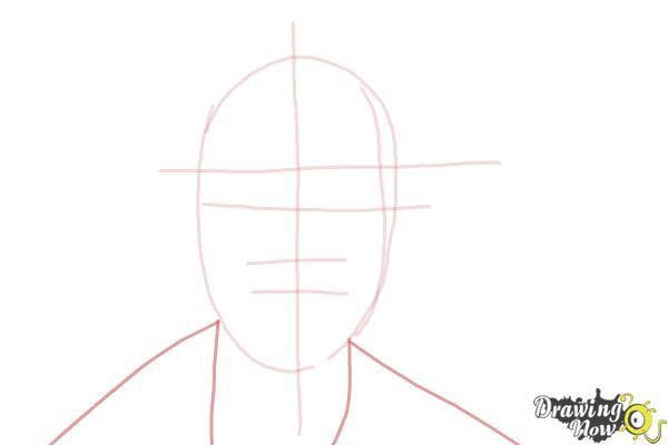 How to Draw Pewdiepie - Step 3