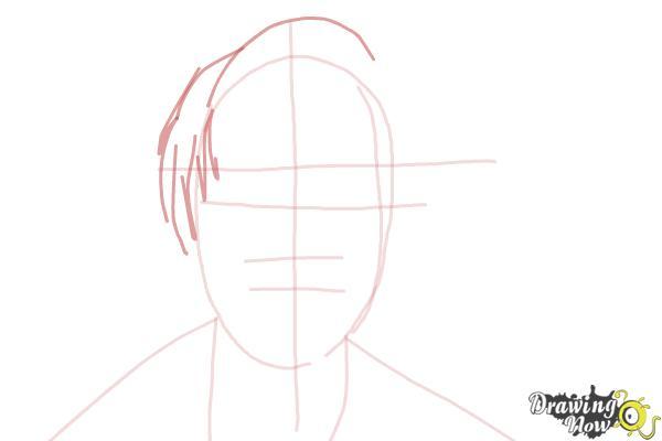How to Draw Pewdiepie - Step 4
