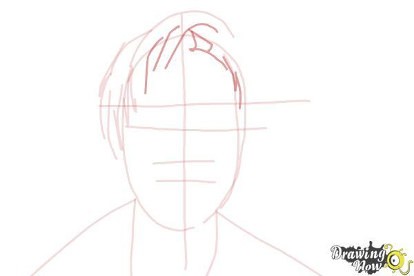 How to Draw Pewdiepie - Step 5