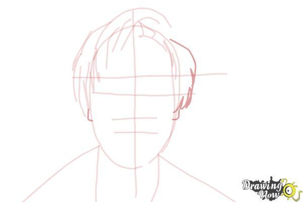 How to Draw Pewdiepie - Step 6