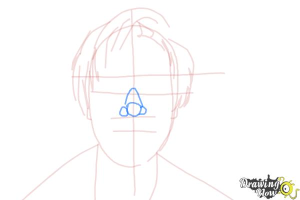 How to Draw Pewdiepie - Step 7