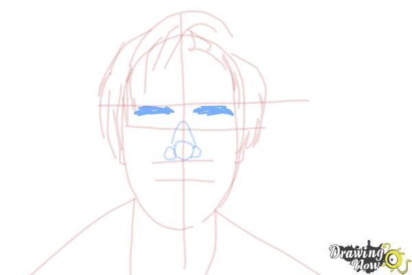 How to Draw Pewdiepie - Step 8