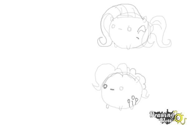 How to Draw My Little Pony Characters, Kawaii - Step 11