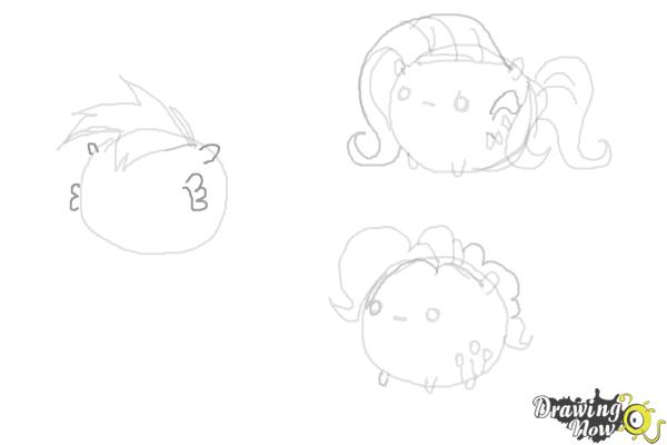 How to Draw My Little Pony Characters, Kawaii - Step 14