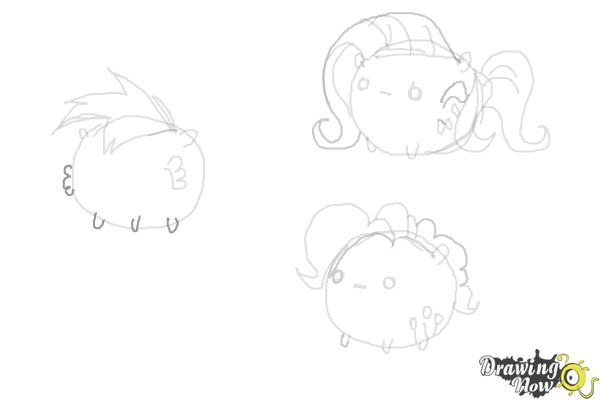 How to Draw My Little Pony Characters, Kawaii - Step 15